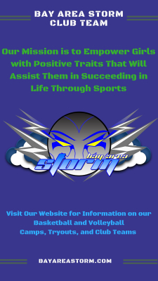 Bay Area Storm Girls' Basketball and Volleyball Club Programs